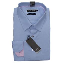 "DOUBLE TWO  COTTON RICH LONG SLEEVE OXFORD SHIRT BLUE 19 - 23"" COLLAR / 3 - 7XL"
