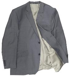 "SALE - HUGO JAMES Wool/Lycra Bi-Stretch Suit JACKET - YUNSA MID GREY 46 - 64"" S/R"