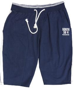 NORTH 56'4 Cotton Sweat Capri Shorts NAVY