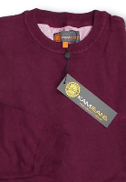 KAM JEANS Natural Cotton Crew Neck Sweater WINE