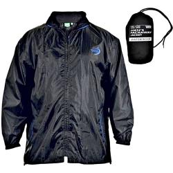 D555 King Size  PACKAWAY WATERPROOF BREATHABLE  JACKET ZAC  BLACK  3 - 8XL