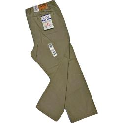 "SALE CHINOS - KAM  Comfort Waist Casual Cotton Chino TAUPE 40 - 42"" SHORT / REG LONG FITTINGS"