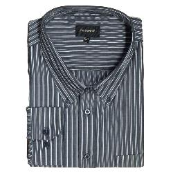 SALE - METAPHOR Long Sleeve Grey Stripe Shirt 5 -6XL