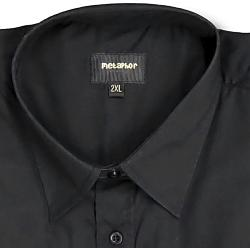 Metaphor Plain Shirt - Short Sleeve BLACK 2 - 8XL