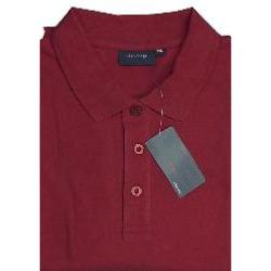 Espionage Natural Cotton Pique Polo Shirts  RED