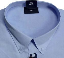 ESPIONAGE Cotton rich Short Sleeve shirt LIGHT BLUE 2 - 8XL