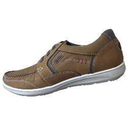 POD CASUAL LEATHER LACE UP  KITE - BROWN 13 - 15 UK