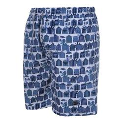 ESPIONAGE SUMMER PRINT SWIM SHORT BEACH HUT / CAMPER VAN 2 - 8XL