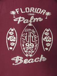 ESPIONAGE PURE COTTON TEE WITH POCKET - FLORIDA PALM BEACH RASPBERRY 2 - 6XL