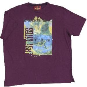 METAPHOR Ski Print Tee GRIZZLY PEAK AUBERGINE 4XL