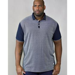 af95633b D555 SHORT SLEEVE POLO WITH JERSEY BACK AND SLEEVES CECIL NAVY 3 - 6XL