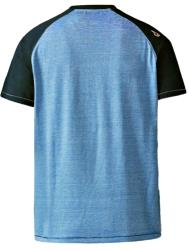 D555 Fine Stripe Tee with Raglan Shoulders BLUE
