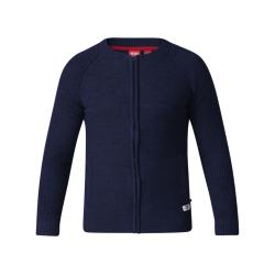 D555  CASUAL FULL ZIP SWEATER WITH RAGLAN SLEEVE XAVIER NAVY 2 - 5XL