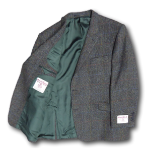 HARRIS TWEED Hand Woven Traditional Check Jacket