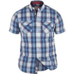 D555 Pure Cotton Twin pocket short Sleeve Check  EVERETT 5XL