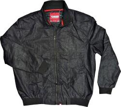 D555 Black Faux Leather  Bomber jacket  COLOMBIAN