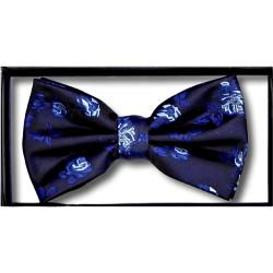 DOUBLE TWO Extra Long  Bow Tie NAVY/BLUE  FLORAL
