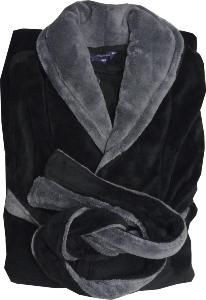 Espionage Fleece Gown CONTRAST GOWN BLACK/CHARCOAL