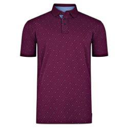 KAM PRINTED DOBBY ALL OVER PRINT  POLO WITH POCKET WINE 7-8XL