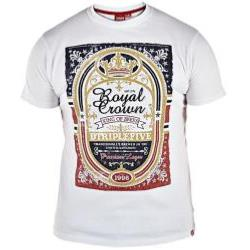 D555 Crew neck Tee 'ROYAL CROWN BEER' (WHITE) 5XL