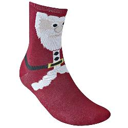 D555  Christmas Cotton rich Kingsize Socks SANTA RED