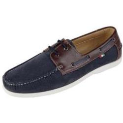D555 PU Leather  / Suede Deck Shoe  NAVY