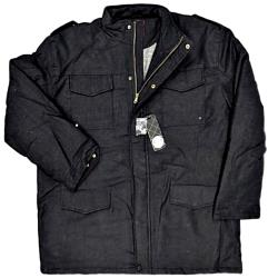 SALE - KAM  Padded Winter Coat with warm lining CHARCOAL GREY 3 - 4XL