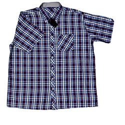SALE - ESPIONAGE Casual Jeans Check Shirt DENIM/NAVY/RED 6 - 8XL