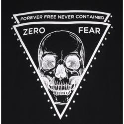 McCARTHY ZERO FEAR SKELETON TEE WITH STUD DETAIL BLACK 2XL