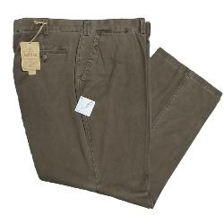 OAKMAN Sulpher dyed Vintage washed Cotton Chino BROWN