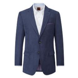SKOPES Soft Touch Herringbone Sports  Jacket NAVY PORTO