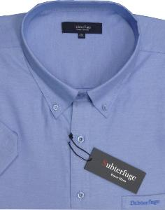 ESPIONAGE Short Sleeve Oxford shirt BLUE 2XL