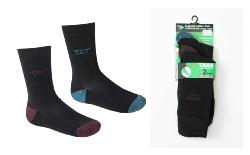 D555 Kingsize Soft Cushion Sole socks 2 Pair Pack BLACK EDEN 11-13 and 14-16 UK