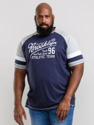 D555 JONES  RAGLAN CUT AND SEWN TEE SHIRT  NAVY/GREY  3 - 6XL