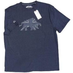 RAGING BULL Chambrey Applique Tee Shirt NAVY 3XL