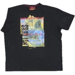 METAPHOR Ski Print Tee GRIZZLY PEAK BLACK 7XL