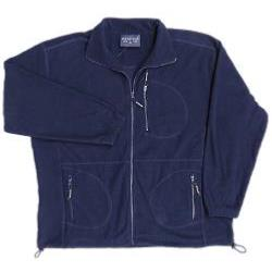 METAPHOR BIG MENS RIB POLAR FLEECE JACKET NAVY 2 - 8XL