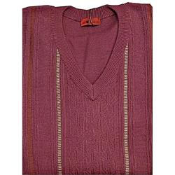 GABICCI Classically Styled Designer  Vee neck Sweater REDCURRANT 3 - 5XL