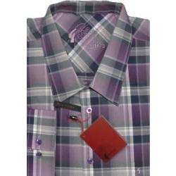 GABICCI Purple designer Check Shirt HAZE 5XL