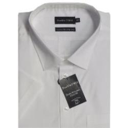 Double Two Non-Iron Cotton Rich Short Sleeve Shirt WHITE