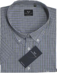 SALE - COTTON VALLEY Small Check Short Sleeve Shirt  MULTI 2XL