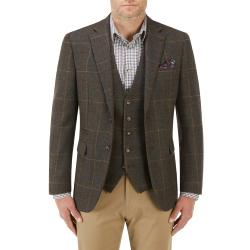 "SKOPES  TRADITIONAL HERITAGE  WARM WOOL RICH CHECK  JACKET GREEN HANAGAN 52 - 68"" CHEST"