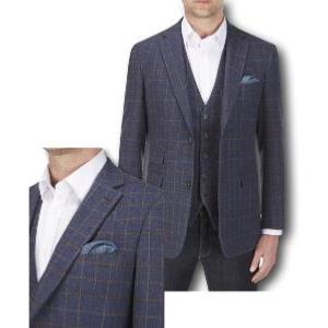 "SKOPES Wool Blend Traditional Check Sports Jacket NAVY MOORLAND 52"" Regular"