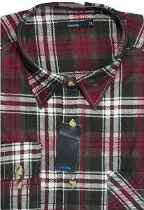 MANVILLE Brushed Warm Cotton Check Shirt  RED/BLACK 2XL
