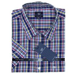 COTTON VALLEY ALL OVER CHECK SHORT SLEEVE SHIRT  2 - 8XL