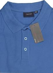 ESPIONAGE Natural Cotton Pique Polo Shirts BLUE 2 - 8XL