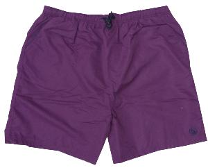 ESPIONAGE  Plain Beach Short with contrast trim PLUM