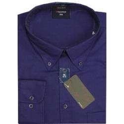 ESPIONAGE Cotton rich Long Sleeve shirt PURPLE   2XL