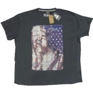 SALE - REPLIKA  Licensed Music Legend Tee JIMI HENDRIX CHARCOAL 4 - 6XL