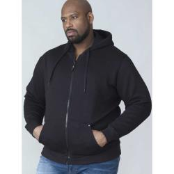 Duke Kingsize ROCKFORD Full Zip Hooded Sweatshirt CANTOR BLACK 3 - 8XL